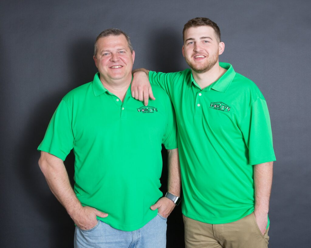 Owners of Worley's Home Services, Chuck and Chase.
